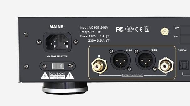 EWEAT Digital audio player DMP50 XLR output